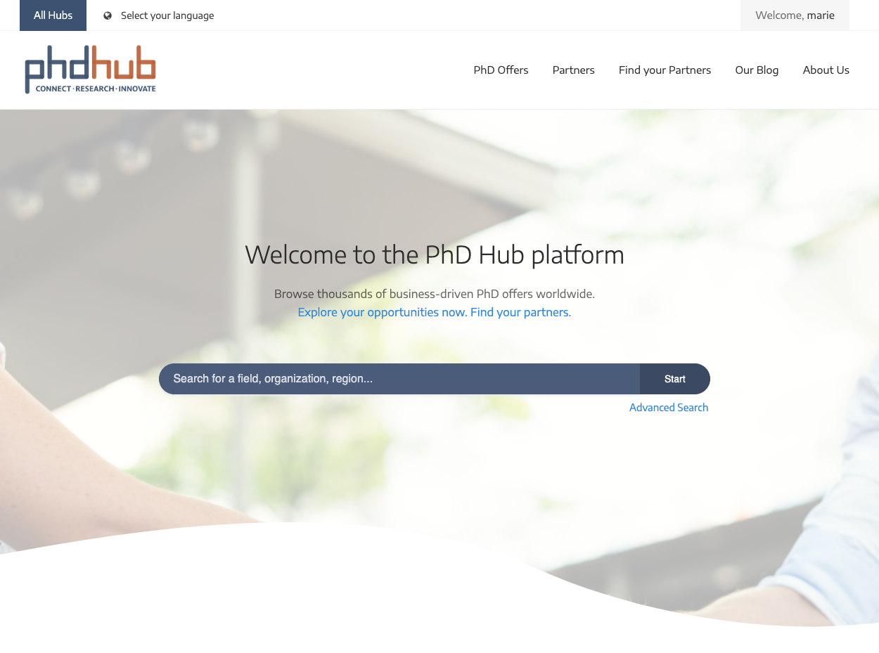 The PhD Hub platform is alive!