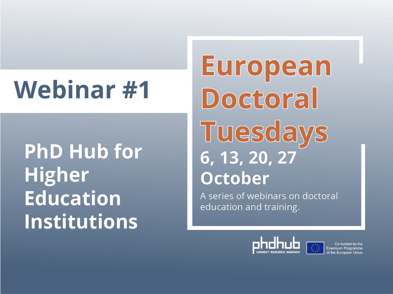 European Doctoral Tuesdays I A PhD Hub webinar