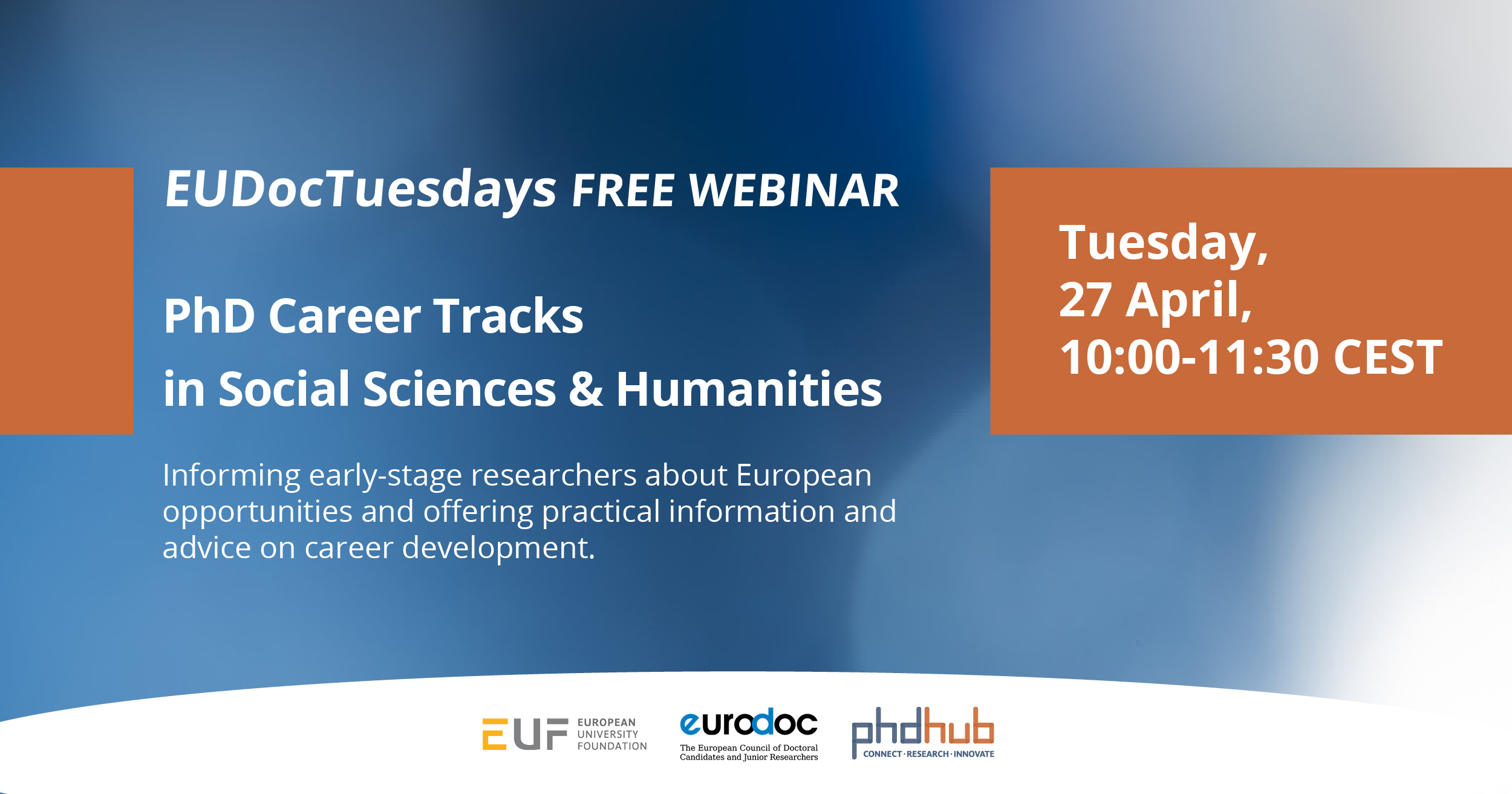 European Doctoral Tuesdays | PhD Career Tracks in Social Sciences & Humanities